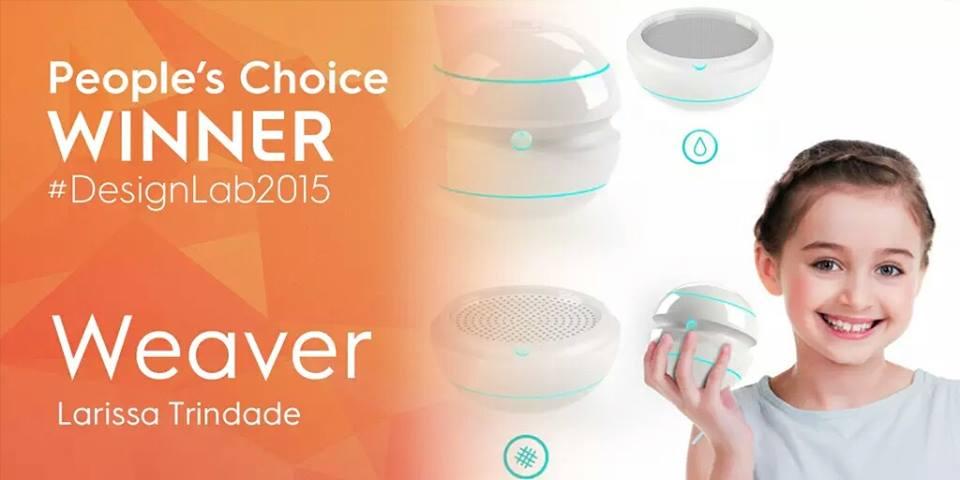 Weaver ganhou o prêmio do produto mais popular do concurso da Electrolux