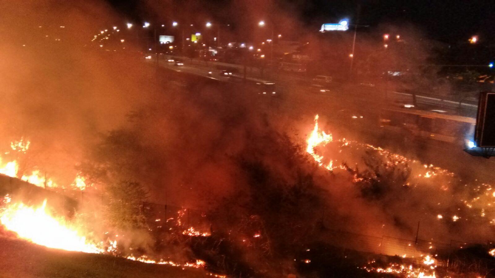 O que foi este fogo que aconteceu ontem em Natal?