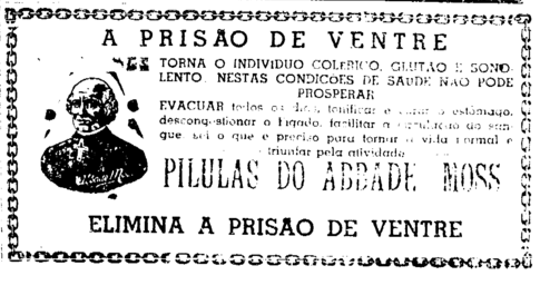 Remédio para prisão de ventre (Foto: A Ordem)