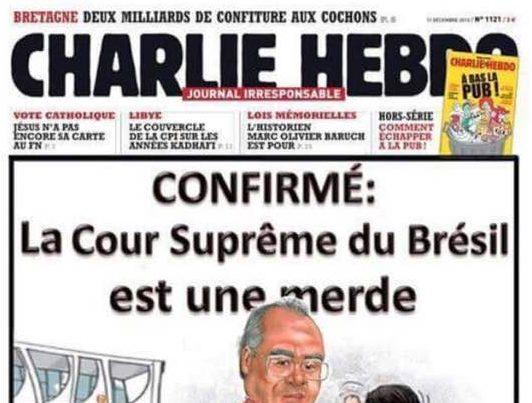 Gente, esta não é a capa oficial da Charlie Hebdo