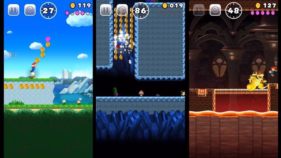 As fases do Super Mario Run