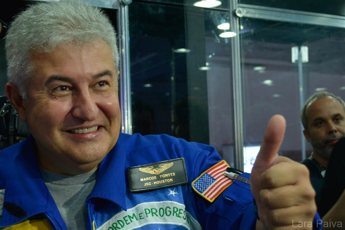"""""""Não podemos nos acomodar"""", disse Marcos Pontes, primeiro astronauta brasileiro"""