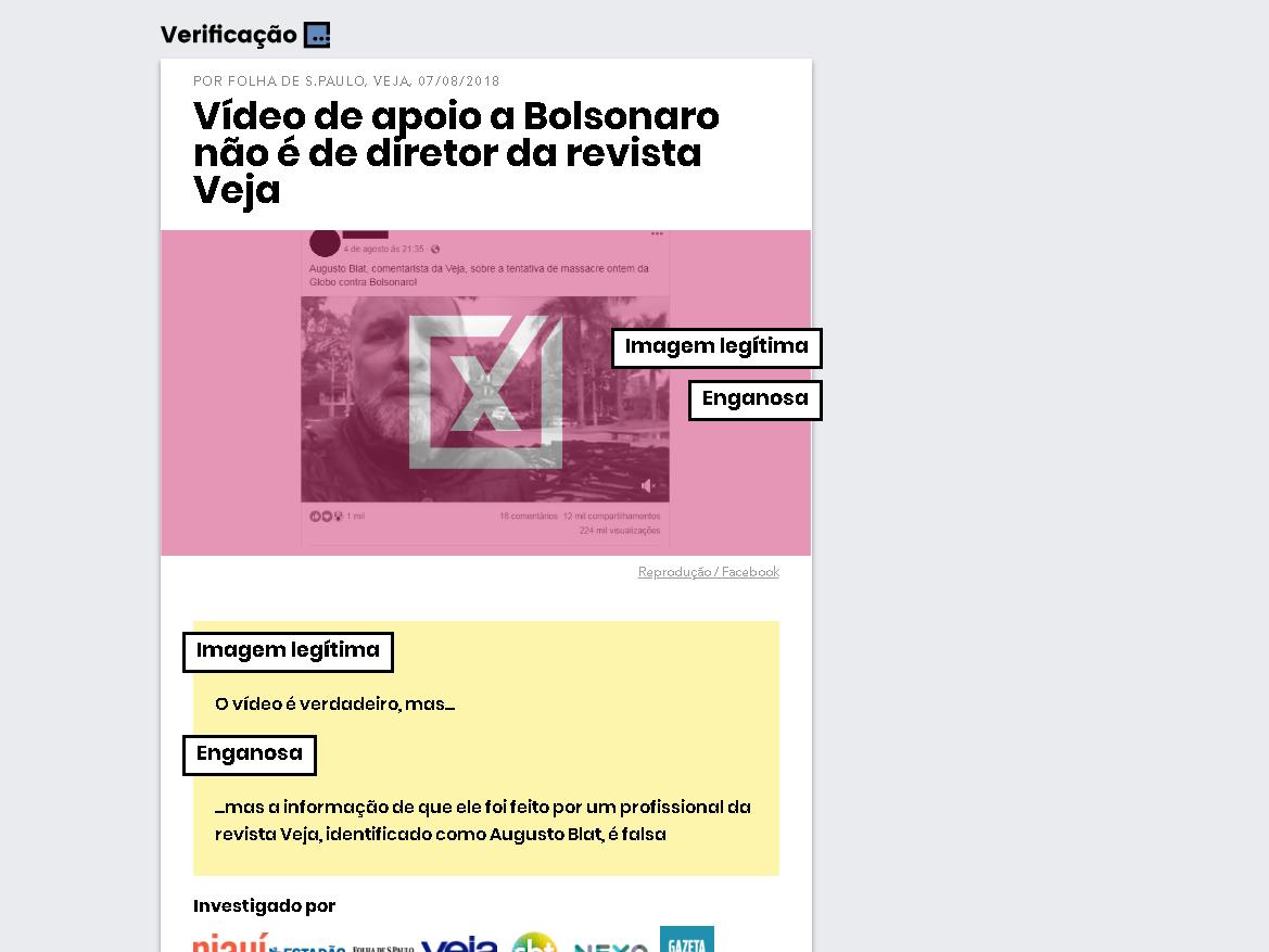 Projeto Comprova: Combate às notícias falsas via WhatsApp