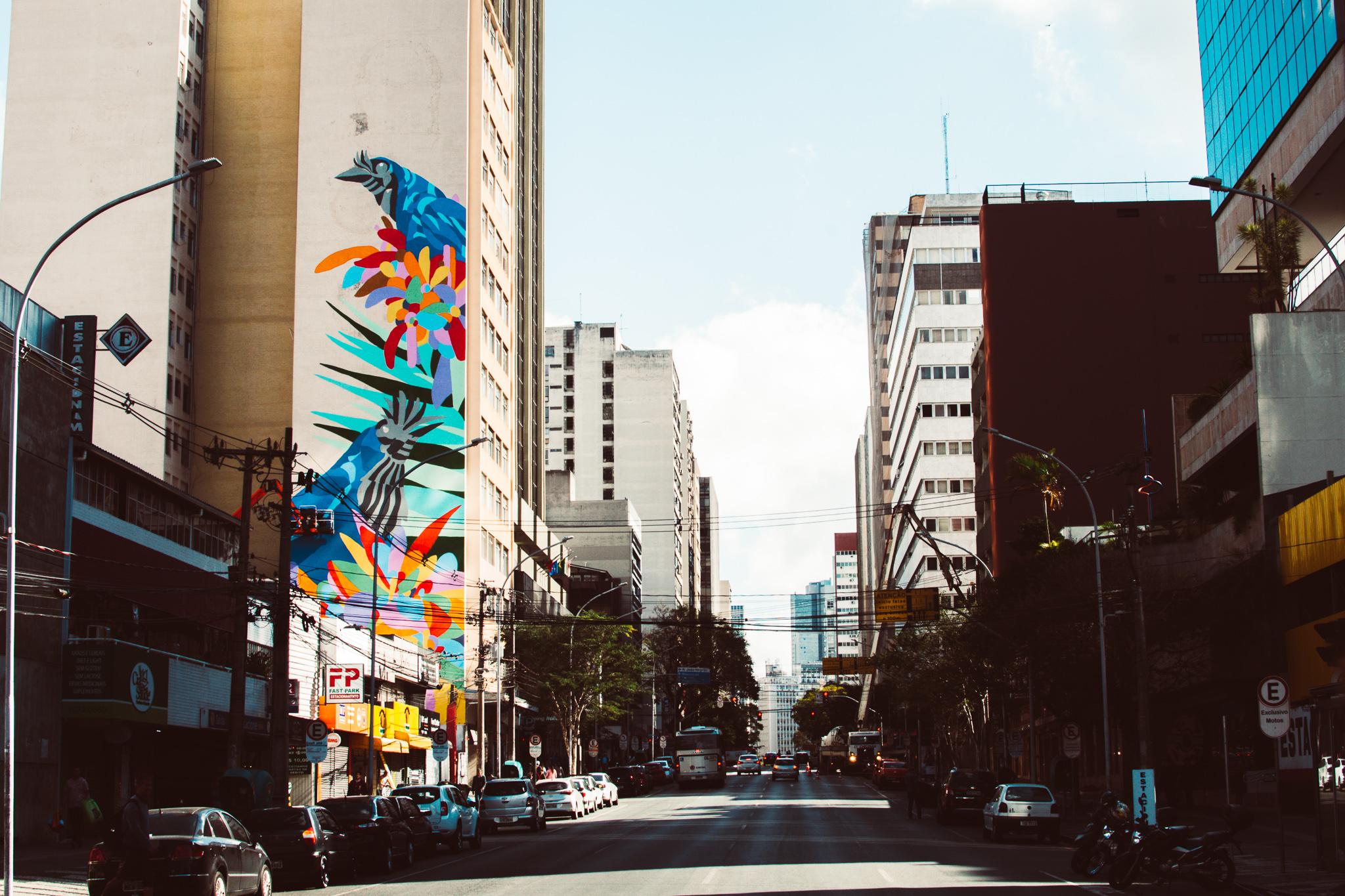 Deixando o Centro de Curitiba Colorida