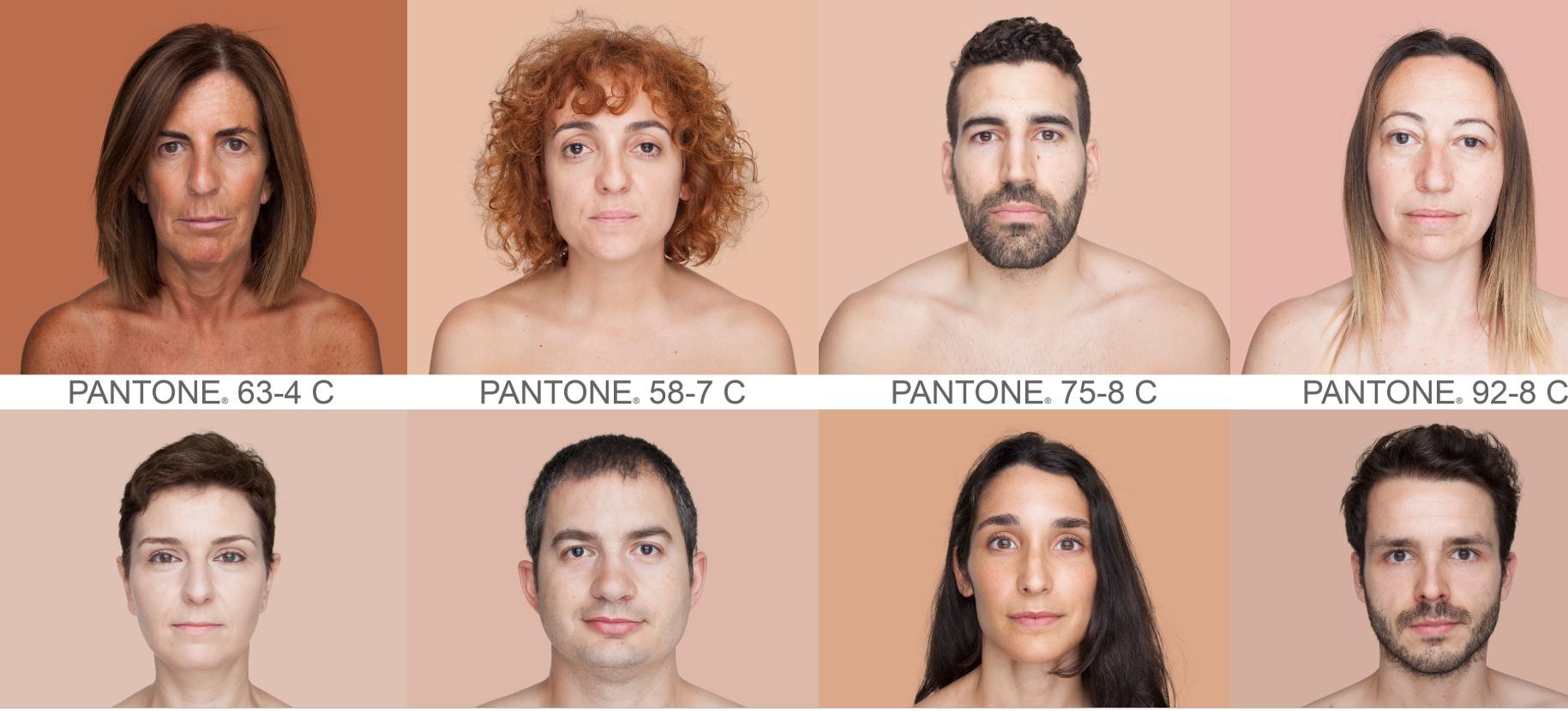 Nossa cor de pele em uma escala de Pantone