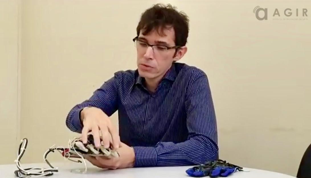 UFRN desenvolve uma luva sensorial