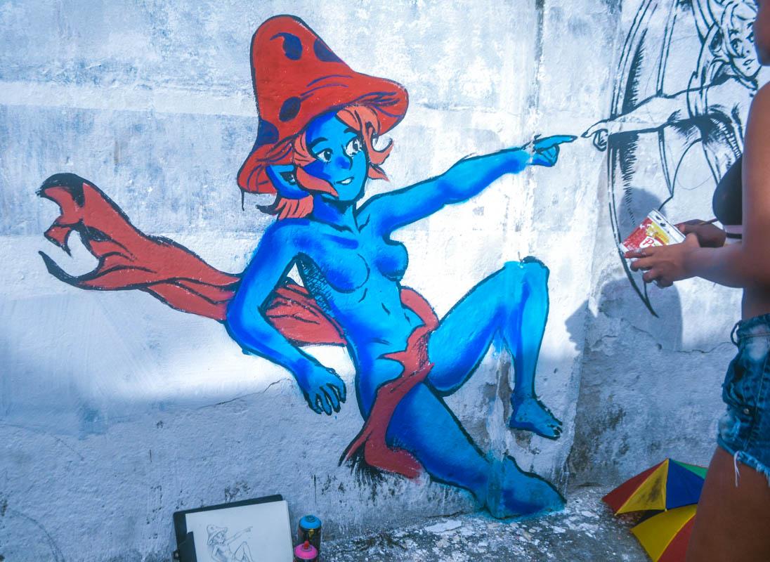 Grafitando os muros da cidade de Macaíba
