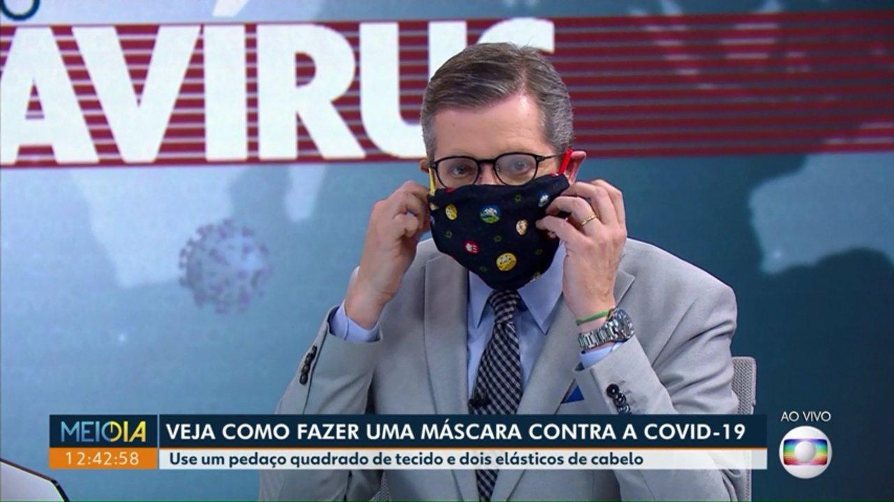 Como montar uma máscara de tecido?