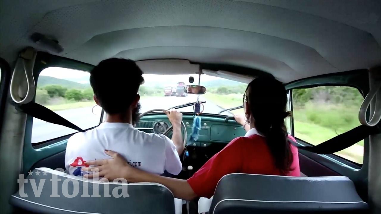 Este casal viajou de São Paulo a Natal de fusca