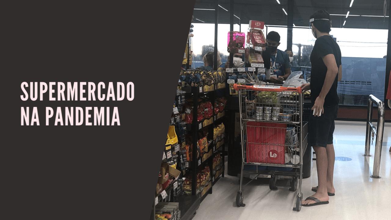 Mostrando um supermercado em tempos de pandemia