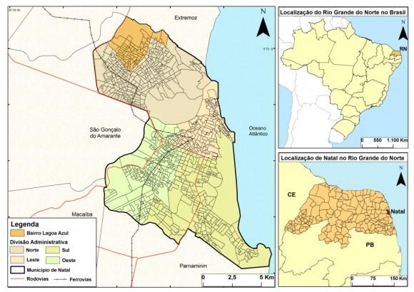 bairro de Natal com menor área territorial