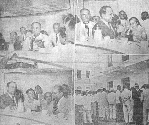 Foto da inauguração do Café São Luiz em 1953